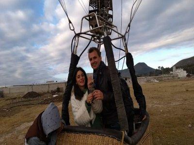 Balloon flight in Huamantla marriage proposal