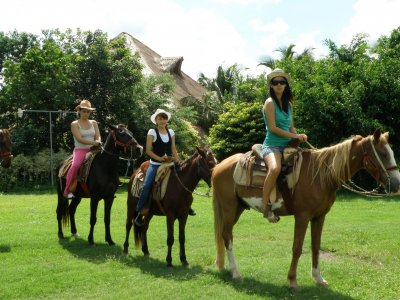 Horseback riding in Cozumel