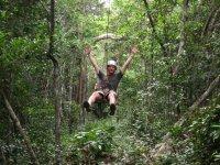 Zipline in the Mayan jungle