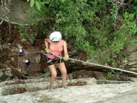 Rappelling in the Mayan Riviera
