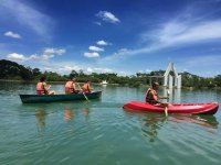 Fun in the kayaks
