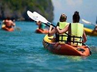 remando con kayaks
