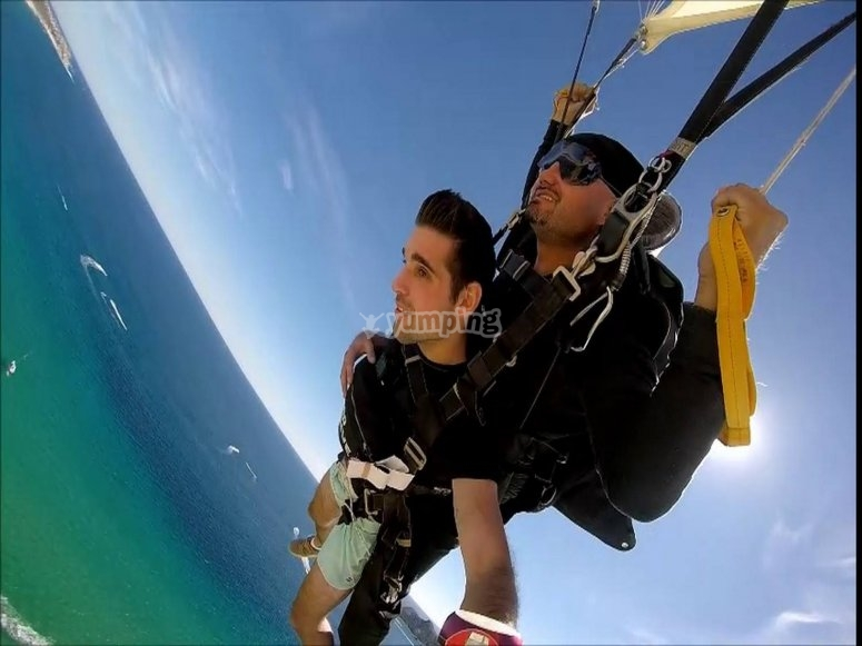 Skydiving over Cabo San Lucas