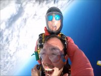 Freefalling over Cabo San Lucas