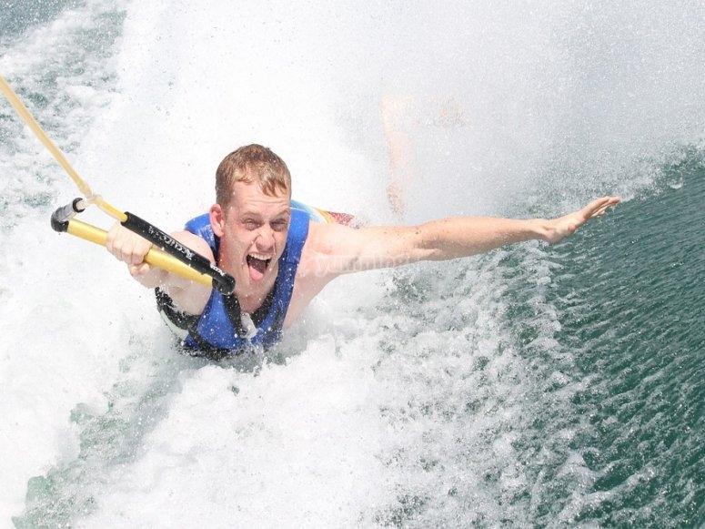 Water skiing practice