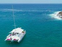 Navegando en trimarán
