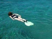 Nadando en superficie