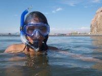 Snorkeleando en la playa