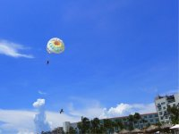 Flying in parasailing