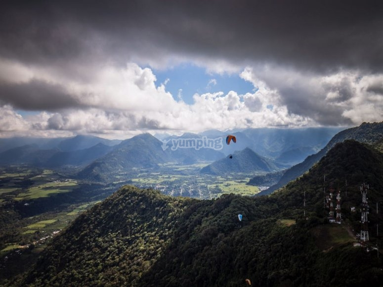 paragliding in Fortin las Flores