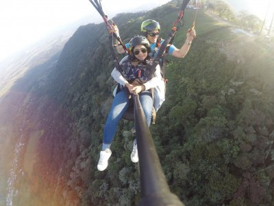 Paragliding flight, Fortín de las Flores