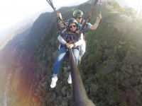 Paraglider flight with an instructor