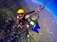 Tandem paraglider flight, Monterrey