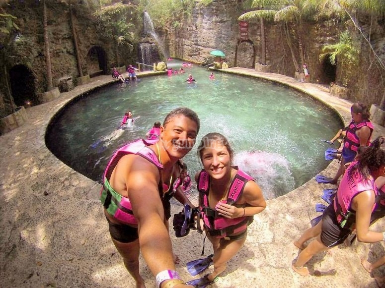 Swimming in Xcaret