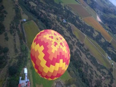 Balloon trip in Huasca for couples and lodging