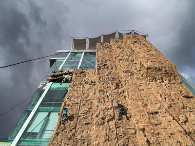 Access for companions to climb the highest wall