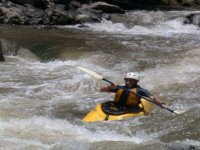 Kayaking rapids