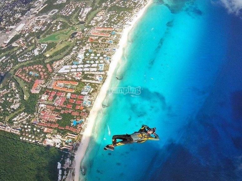 Vista de Playa del Carmen desde las alturas