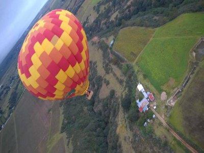 Balloon flight and ATV in Huasca de Ocampo