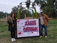 Entrega de anillo en globo San Miguel de Allende