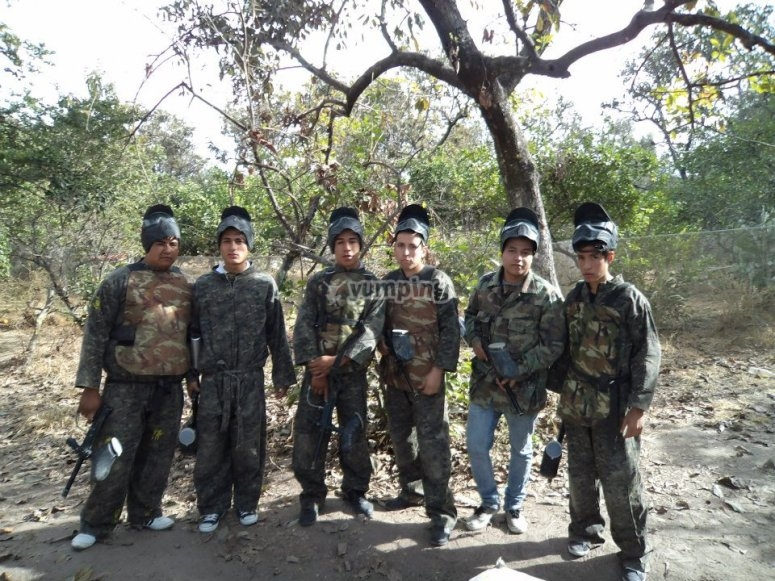 Paintball with your friends