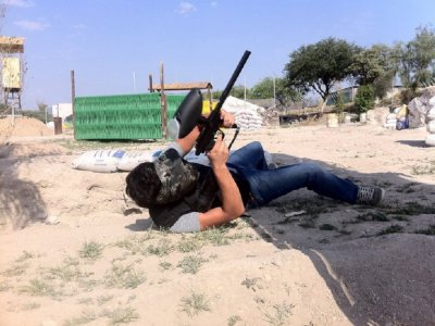 Paintball match in Tecozautla
