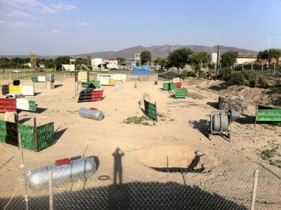 Paintball field in Tecozautla, 8 people