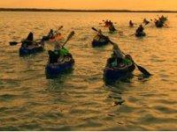 Sunset in kayak
