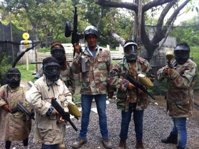 Paintball in Jalisco, 100 pellets, wrap and water