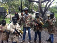 Have fun playing paintball