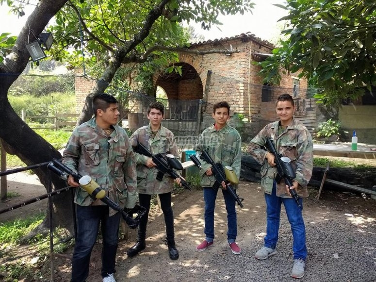 Paintball during the week