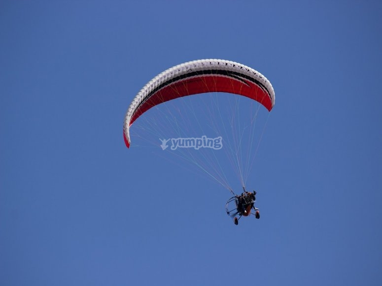 Paramotoring over the beach