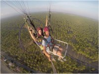 Paramotoring over the palm groves