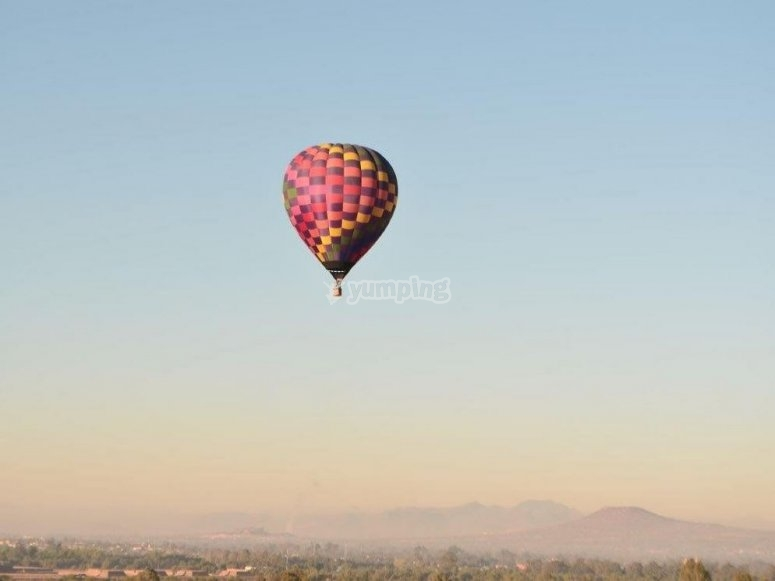 Flight at dawn
