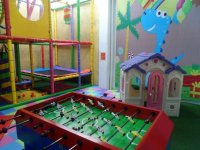 Table football in the party hall
