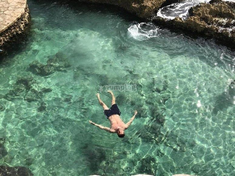 Swim in the cove