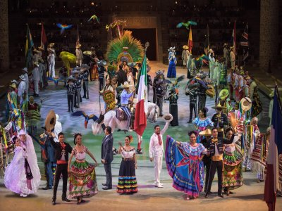Entrance to Xcaret with gourmet dinner and Children show