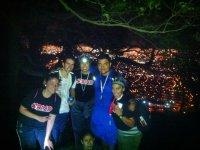 Night trekking group
