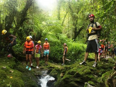 Canyoning route in Cuetzalan.