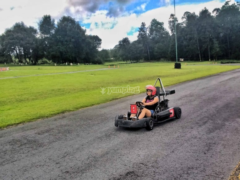 driving the go karts