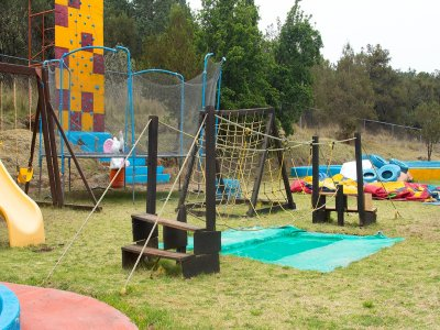 Access to kids zone in Rancholandia Tlaxcala.