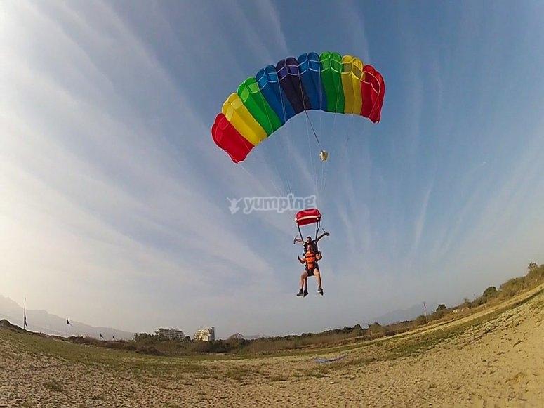 Parachuting in Celaya
