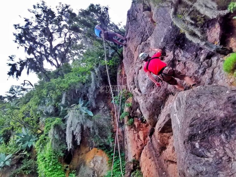 Climbing in valle de bravo