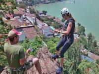 Rappel y escalada en Valle de Bravo