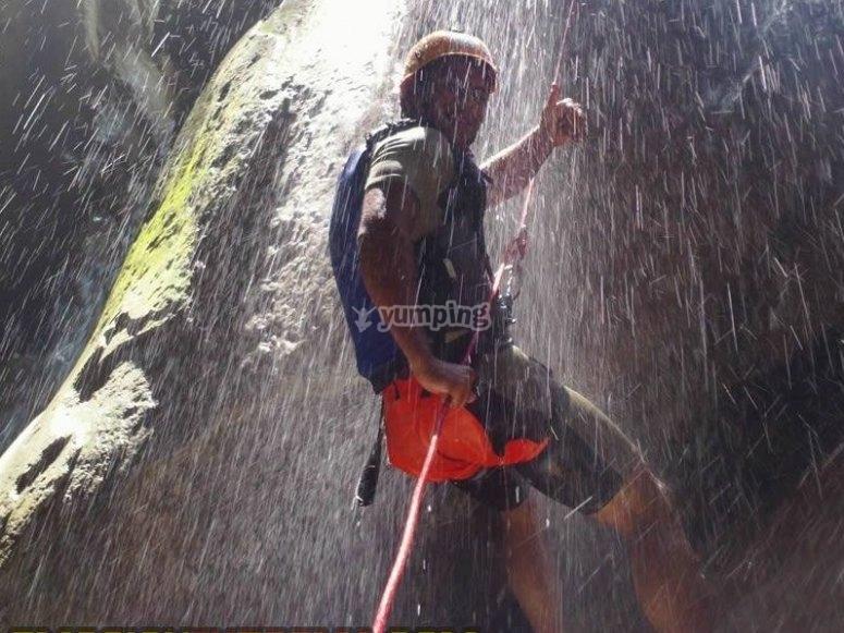 Rappel in cascade