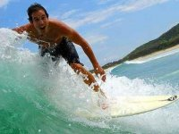 Exciting surfing