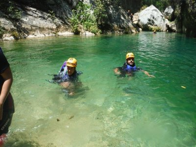 Canyoning in Guaponal, Nuevo León.