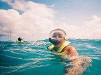 Girl snorkeling