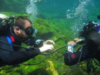 TDI Intro to Cave Diver course. Playa del Carmen.