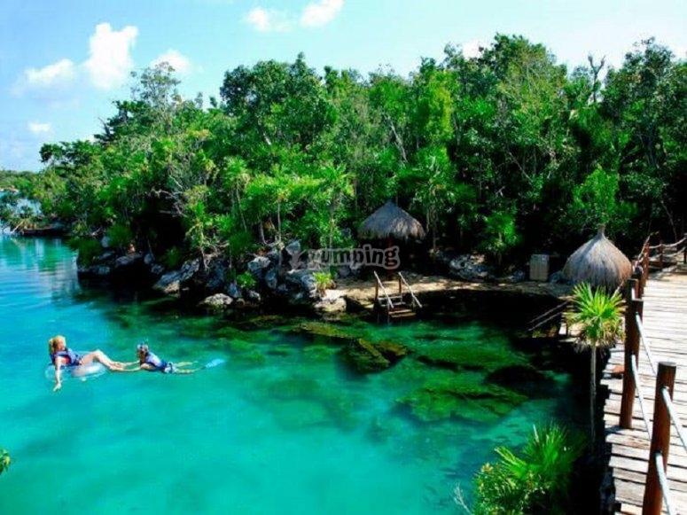 parque acuático para disfrutar en pareja